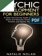 Psychic Development for Beginne - Natalie Nolan
