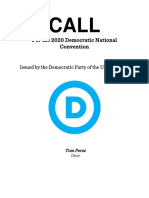 2020 Call for the Democratic National Convention