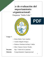 Trabajo de Evaluación Del Comportamiento Organizacional