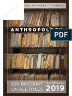 Anthropology Catalog 2019 for Stanford University Press