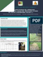 Poster Herbicida Orgánico