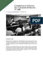Innovaciones Legislativas en El Proceso Penal Peruano