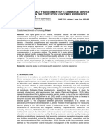 [25452827 - Multidisciplinary Aspects of Production Engineering] Quality Assessment of E-Commerce Service in the Context of Customer Expiriences (1)