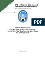 ESTUDIO DE FUENTES VITAMINICAS EN ESPECIES PELAGICAS Y EPIPELAGICAS (peces) DEL MAR PERUANO