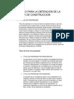 Proceso Para La Obtencion de La Licencia de Construccion