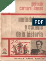 METODOLOGIA Y ESTUDIO DE LA HISTORIA GERMAN CARRERA DAMAS