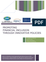 Promoting Financial Inclusion Through Innovative Policies