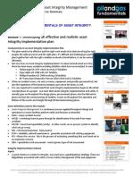 Fundamentals of Asset Integrity Implementation Module 1