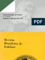 Revista Brasileira de Folclore N°19 - Setembro a Dezembro de 1967