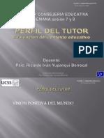 TUTORIA Y CONSEJERIA EDUCATIVA. PERFIL DEL TUTOR