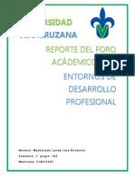Reporte_foro Academico_entornos de Desarrollo Profesional