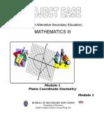 Module 1 - Plane Coordinate Geometry