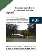 Gobierno Aleman Destina Fondos Para Victimas de Colonia Dignidad.09.11.2018