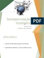 Sensopercepção e Inteligência (1)
