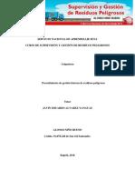 """""""Procedimiento de Gestión Interna de Residuos Peligrosos, Trabajo Practico 2"""