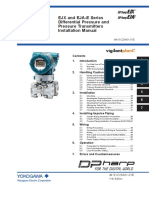 Manualejx and Eja-e Series Differential Pressure and Pressure Transmitters Installation Manual