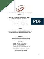 LA RESPONSABILIDAD EN EL EJERCICIO DE LA FUNCION NOTARIAL, REGIMEN Y PROCESO DISCIPLINARIO