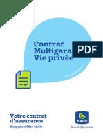 MAIF Contrat Responsabilité Civile RC – après mai 2018