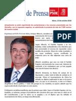 NOTA DE PRENSA TASA BASURAS -  PSPV-PSOE de Alzira