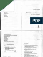 Wilhelm Dilthey. a Construção Do Mundo Histórico Nas Ciências Humanas. Delimitação Das Ciências Humanas