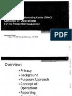 DHS SNMC Inauguration Monitoring