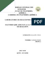 Factores q Afectan La Velocidad de Reaccion_UCE