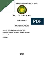 Tarea Estadistica Tablas Ingreso, Pobreza, Cantidad Ed Persanas en El Peru