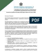 Desarrollo de Capacidades Para El Apoyo Psicosocial-Carta-ficha Técnica-cronograma Croacia-Sena