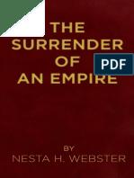 The Surrender of an Empire - Nesta Helen Webster