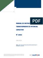 Transformadores de Tensión 115 Kv - Manual de Operación y Mantenimiento
