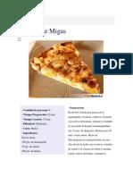 Kuchen de Miga y Crema