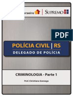 Apostila Pc Rs Delegado Edital 2018 Criminologia Christiano Gonzaga