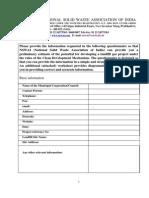 CDM Carbon Credits Questionnaire