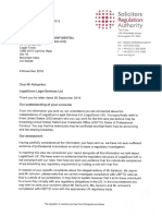 U.K. Solicitors Authority 's response regarding LegalZoom's hiring of U.S. lawyers to work for their U.K. based non-lawyer owned law firm to practice before the USPTO.