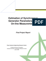 Estimacion de parametros de generadores sincrono