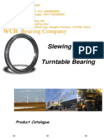 WCB Swing Circles Slewing Ring Rotary Bearing Turntable Bearing Excavator Swing Bearings