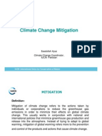 Climate Change Mitigation and Pakistan- Saadullah Ayaz