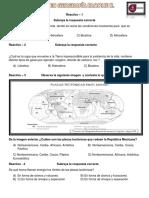Examen Geografía Segundo Bloque