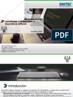 Diagrama comparativo de metodologías y modelos para el desarrollo de software.