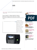 Cara Unlock _ Reset Admin Mesin Absensi Fingerprint Solution x100c - JakartaCitizen _ Segudang Informasi Dan Berita Dari Jakarta