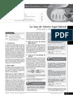 Tasa de Interes Legal Laboral