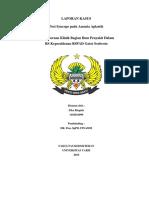 """""""Post Syncope Pada Anemia Aplastik"""" (CASE REPORT)"""