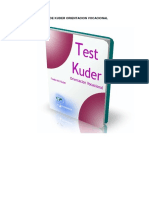 Test de Kuder Orientacion Vocacional 1
