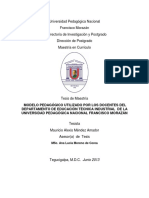 Modelo Pedagogico Utilizado Por Los Docentes Del Departamento de Educacion Tecnica Industrial de La Universidad Pedagogica Nacional Francisco Morazan