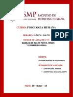 Informe de Laboratorio de Fisiología Humana Practica n 8