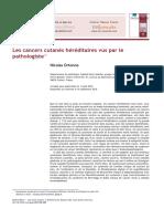 Les Cancers Cutanés Héréditaires Vus Par Le Pathologiste