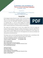 Csfl Seminar Workshop 091018