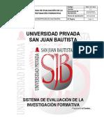 Sistema de Evaluacion Investigacion Formativa v.1.1 RR 490 2016 R UPSJB