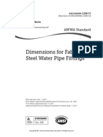 dimensions of steel water pipes