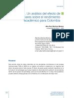 Un analisis del efecto pares sobre rendimiento academico para colombia PISA.pdf